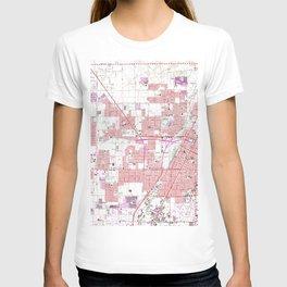 Vintage Map of Las Vegas Nevada (1967) 3 T-shirt
