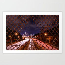 City Commute Art Print