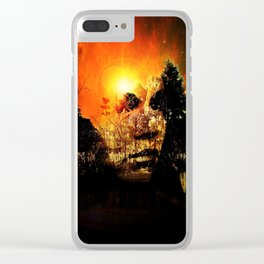 Mysterious Lady Clear iPhone Case