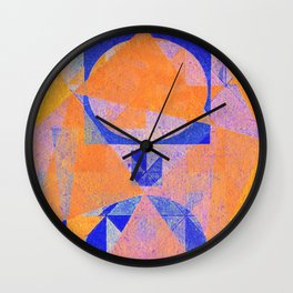 Cré com Cré Lé com Lé Wall Clock