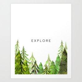 Explore, Printable Wall Decor, Wall Art Print, Black And White, Printable Art Art Print