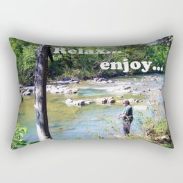 Gone Fishing Card Rectangular Pillow