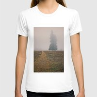 hiking T-shirts featuring Hiking in the Fog by Kurt Rahn