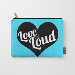 Love Out Loud - Black & White Carry-All Pouch