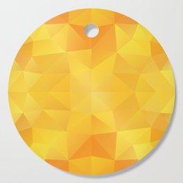 Mozaic design in yellow colors Cutting Board