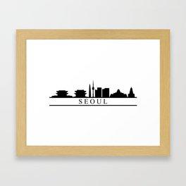 seoul skyline Framed Art Print