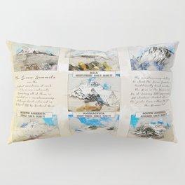 7 Summits, the worlds highest mountains Pillow Sham