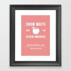 Disney Princesses: Snow White Minimalist Framed Art Print