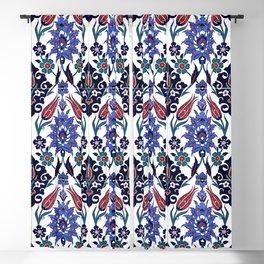Turkish Tulip Motif Tile Pattern Blackout Curtain