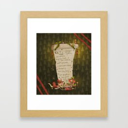 Wish List! Framed Art Print