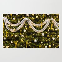 christmas tree Area & Throw Rugs featuring Christmas Tree by Pati Designs & Photography