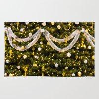 christmas tree Area & Throw Rugs featuring Christmas Tree by Pati Designs