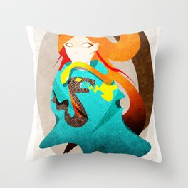 Madame Serpent Throw Pillow