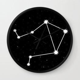 Libra Star Sign Night Sky Wall Clock