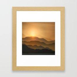 Sunrise in the mountains - beautiful morning - #Society6 #buyart Framed Art Print
