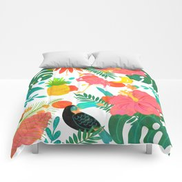 Tropical Vibes Summer Pattern Comforters