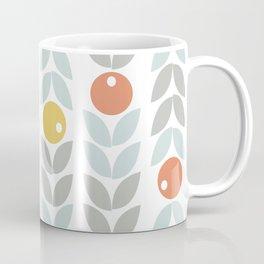 Mid Century Modern Retro Leaf and Circle Pattern Coffee Mug