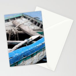 Rustic Wooden Turquoise Boat Stationery Cards