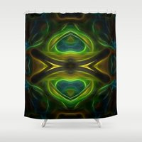 tarot Shower Curtains featuring Tarot card XIII - Death by Lucia