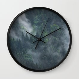 Into deep forest Wall Clock