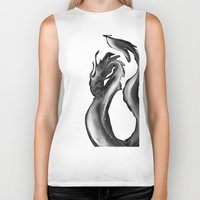mother of dragons Biker Tanks featuring Dragons by DragonsTime