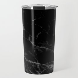 Black Marble Travel Mug