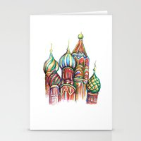 russia Stationery Cards featuring Russia by Lam Designs