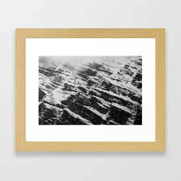 mountain wall Framed Art Print