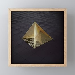 Golden pyramid Framed Mini Art Print