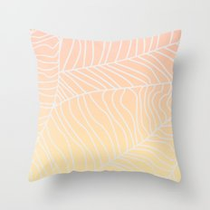 TROPICAL LEAF - dreamy look (pink and yellow) Throw Pillow