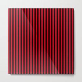 Rote Nacht Red-Black Striped Metal Print
