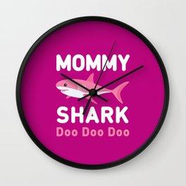 Mommy Shark Wall Clock