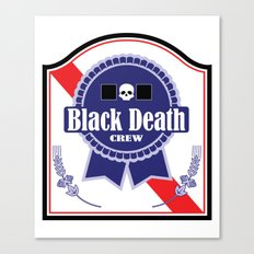 Black Death Ribbon (Color) Canvas Print