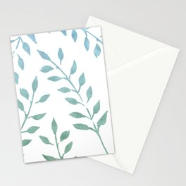 Blue and Green Fronds Stationery Cards