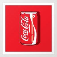 Coca cola - Classic can Art Print