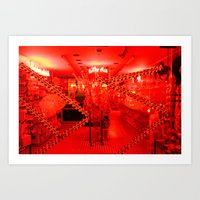 Bruges in red (candy) Art Print