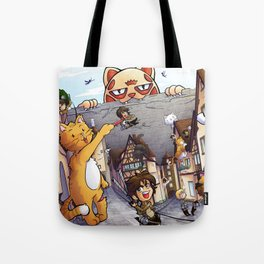 Attack on Kitten - Attack on Titan Tote Bag