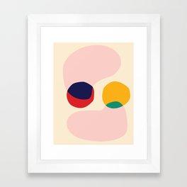 happy shapes Framed Art Print
