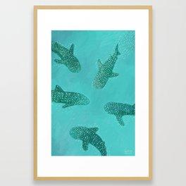 Whalesharks Framed Art Print