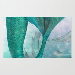 Mermaids Fantasy Pastel Sea Ocean Rug