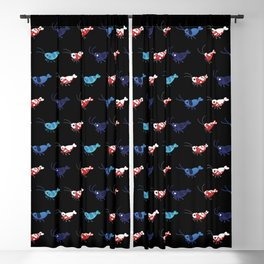 Red and blue shrimp Blackout Curtain