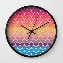 Watercolor Lovely Pattern VVIV Wall Clock