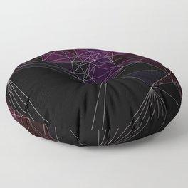 Polygonal purple, black and white Floor Pillow