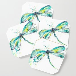 Watercolor Dragonfly Coaster