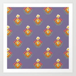 Waffles and Bacon (Grape Juice Purple) Art Print