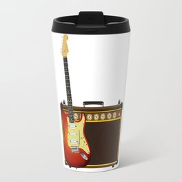 Guitar And Aplifier Travel Mug