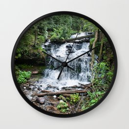 Wagner Falls, Munising, Michigan Wall Clock