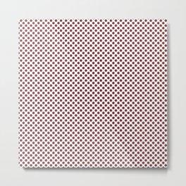 Rosewood Polka Dots Metal Print