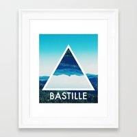 bastille Framed Art Prints featuring BASTILLE by Hands in the Sky