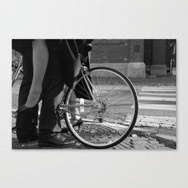 Biker Love Canvas Print